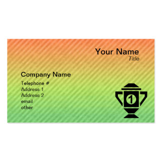 1st Place Trophy Design Business Card Template