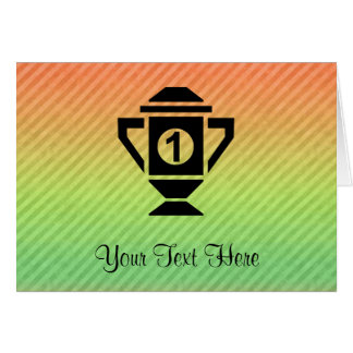 1st Place Trophy Design Greeting Card