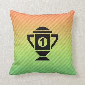 1st Place Trophy Design Throw Pillows