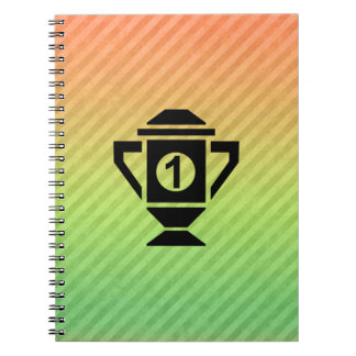 1st Place Trophy Design Spiral Note Book
