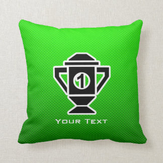 1st Place Trophy; Green Pillow