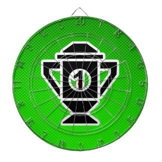 1st Place Trophy; Green Dart Board