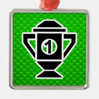 1st Place Trophy; Green Christmas Ornament