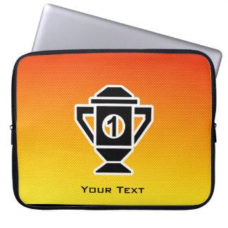 1st Place Trophy; Yellow Orange Laptop Computer Sleeve