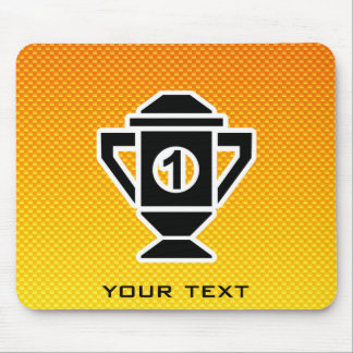 1st Place Trophy; Yellow Orange Mouse Pad