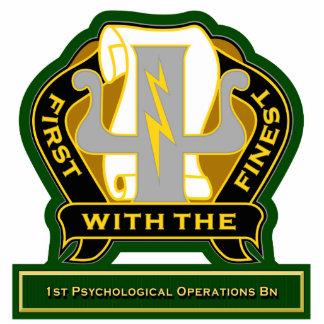 1st Psychological Operations Battalion DUI Standing Photo Sculpture