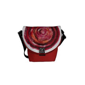 1st-Root Chakra Fabric-Paint Artwork #2 Messenger Bag