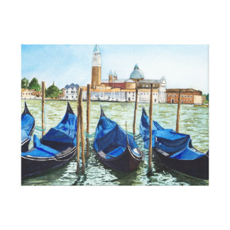 1st sight of Venice Canvas Print