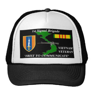 "1st Signal Brigade""1st to Communicate"" Ball Caps Hat"