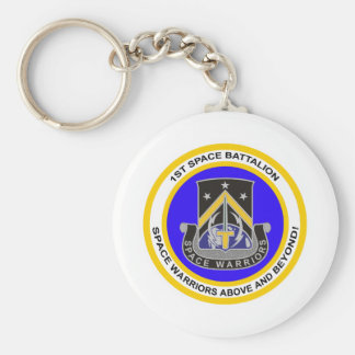 1st Space Battalion Basic Round Button Key Ring