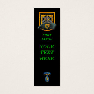 1st special forces green berets group bookmarkers mini business card