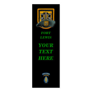 1st special forces green berets group bookmarkers pack of skinny business cards