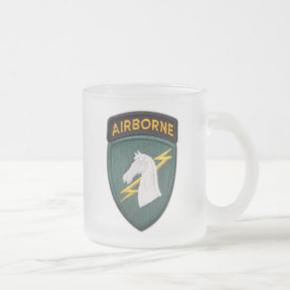 1st Special ops SOC SOCOM USASOC Veterans Vets Frosted Glass Coffee Mug