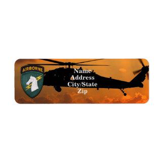 1st Special ops SOC SOCOM USASOC Veterans Vets Return Address Label