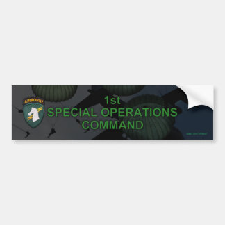 1st special ops usacapoc patch Bumper Stick Bumper Stickers