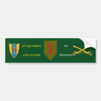 1ST SQDN 4TH CAVALRY 1ST INFANTRY BUMPER STICKER
