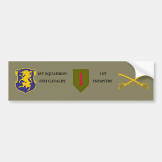1ST SQDN 6TH CAVALRY 1ST INFANTRY BUMPER STICKER