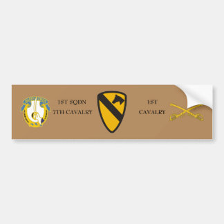1ST SQDN 7TH CAVALRY 1ST CAVALRY BUMPER STICKER