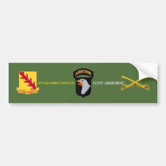 1ST SQUADRON 32ND CAVALRY 101ST ABN BUMPER STICKER CAR BUMPER STICKER