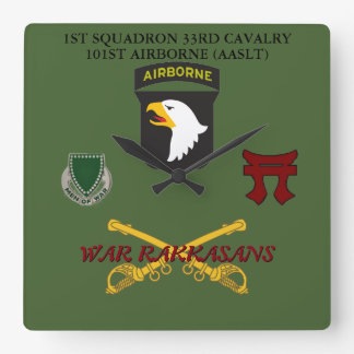 1ST SQUADRON 33RD CAVALRY 101ST CLOCK