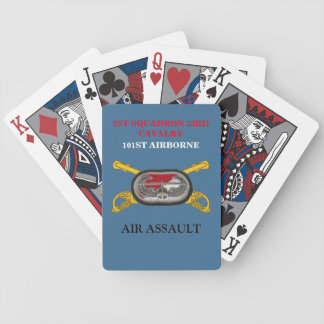 1ST SQUADRON 33RD CAVALRY 101ST PLAYING CARDS