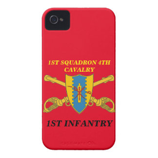 1ST SQUADRON 4TH CAVALRY 1ST INFANTRY CASE iPhone 4 Case-Mate CASES