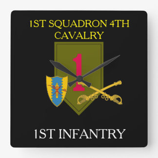 1ST SQUADRON 4TH CAVALRY 1ST INFANTRY CLOCK