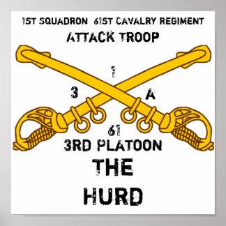 1st Squadron  61st Cavalry Regiment, ... Poster