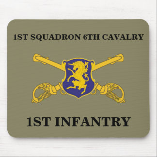 1ST SQUADRON 6TH CAVALRY 1ST INFANTRY MOUSEPAD