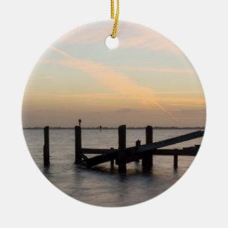 1st Sunset 2017 Cocoa Beach Ceramic Ornament