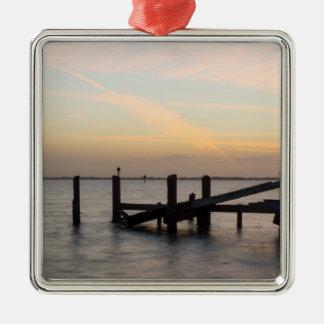 1st Sunset 2017 Cocoa Beach Metal Ornament