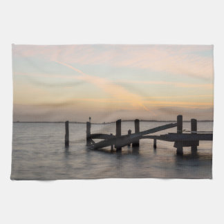 1st Sunset 2017 Cocoa Beach Tea Towel
