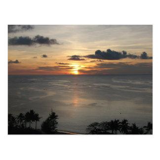 1st Sunset in Guam Postcard