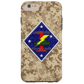 1st Tank Battalion - 1st Marine Division Camo Tough iPhone 6 Plus Case