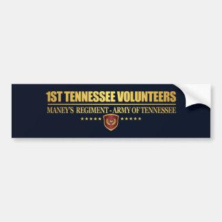 1st Tennessee Infantry (F10) Bumper Sticker