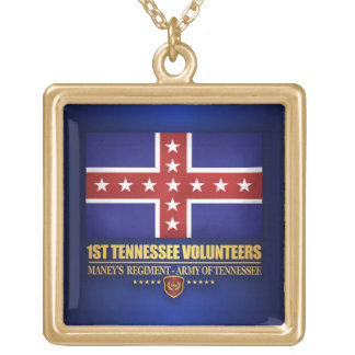 1st Tennessee Infantry (F10) Gold Plated Necklace