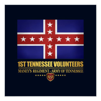 1st Tennessee Infantry (F10) Poster