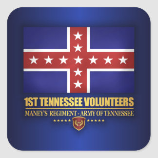 1st Tennessee Infantry (F10) Square Sticker