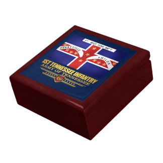 1st Tennessee Infantry Large Square Gift Box