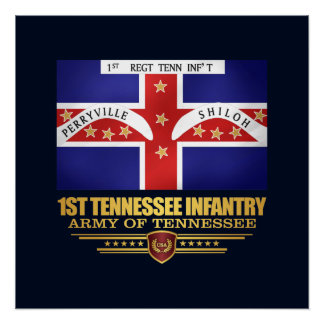1st Tennessee Infantry Poster
