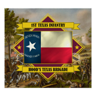 1st Texas Infantry Poster