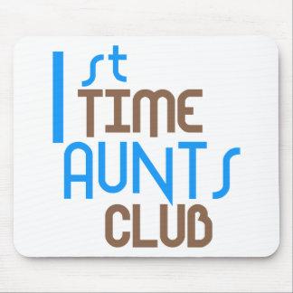 1st Time Aunts Club (Blue) Mouse Pad