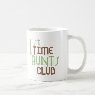 1st Time Aunts Club (Green) Basic White Mug