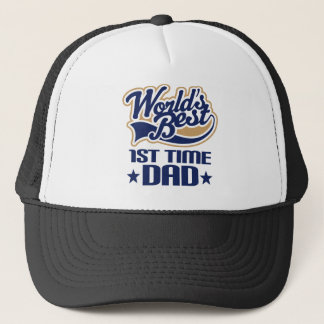 1st Time Dad New Dad Gift Idea Trucker Hat