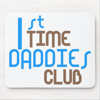 1st Time Daddies Club (Blue) Mouse Mats