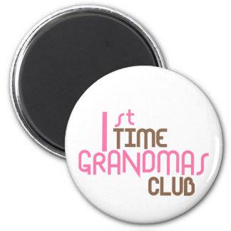 1st Time Grandmas Club (Pink) 6 Cm Round Magnet