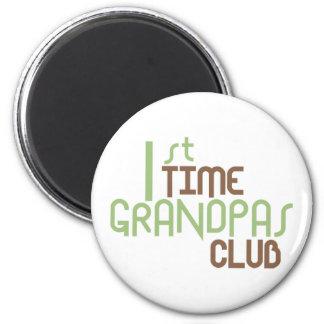 1st Time Grandpas Club (Green) 6 Cm Round Magnet