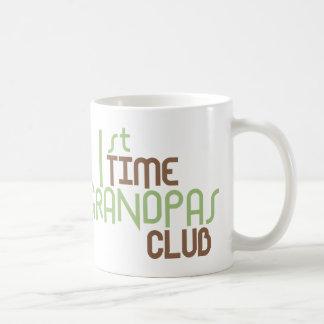 1st Time Grandpas Club (Green) Coffee Mug