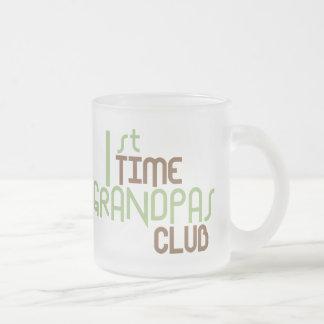 1st Time Grandpas Club (Green) Mugs