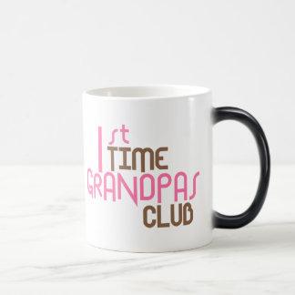1st Time Grandpas Club (Pink) Magic Mug